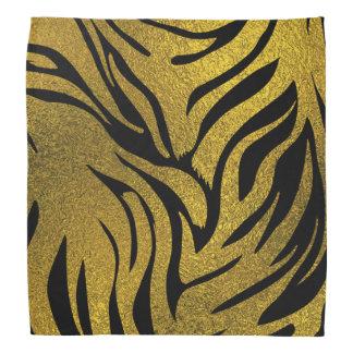 Lenço Impressão do teste padrão do tigre   do brilho do