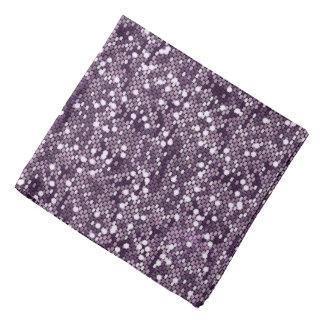 Lenço Impressão roxo do estilo do brilho dos confetes