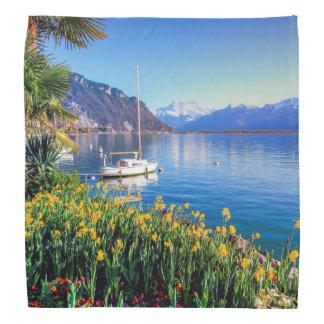 Lenço Lago geneva em Montreux, Vaud, suiça