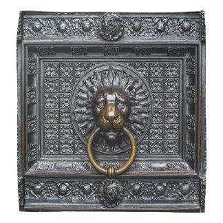 Lenço Leão de Doorknocker - preto/ouro