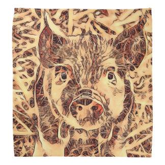 Lenço Leitão surpreendente animal de ArtsStudio-