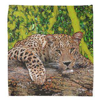 Lenço Leopardo preguiçoso