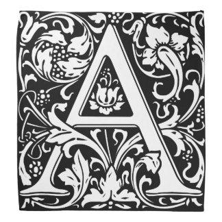 Lenço Letra floral do vintage elegante um monograma