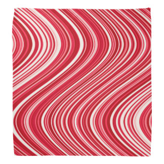Lenço Linhas onduladas em vermelho e em branco