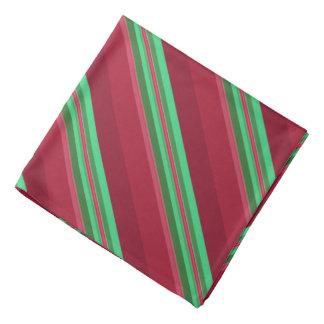 Lenço Listras vermelhas e verdes elegantes