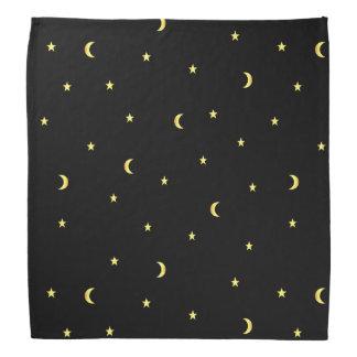 Lenço Lua e estrelas do ouro