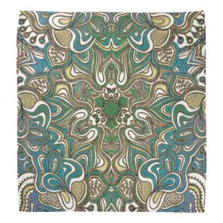 Lenço Mandala azul do ouro verde