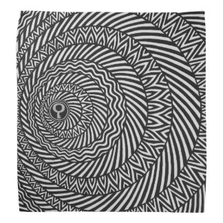 Lenço Mandala preto e branco cinética