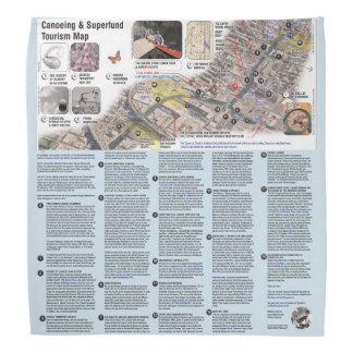Lenço Mapa do viagem do Bandanna de Gowanus SuperFUNd