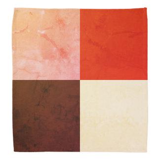 Lenço Marfim cor-de-rosa vermelho rústico de Brown