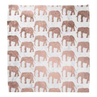Lenço Mármore cor-de-rosa do branco dos elefantes do
