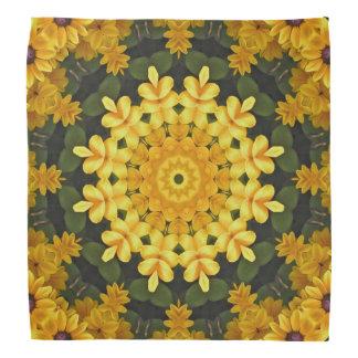 Lenço Natureza de olhos pretos de Susans, Flor-Mandala