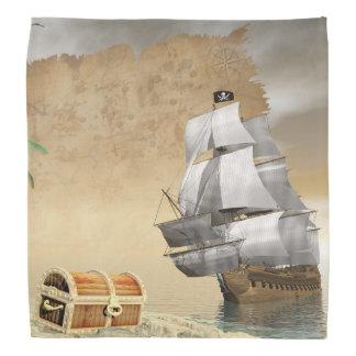 Lenço Navio de pirata que encontra o tesouro - 3D rendem