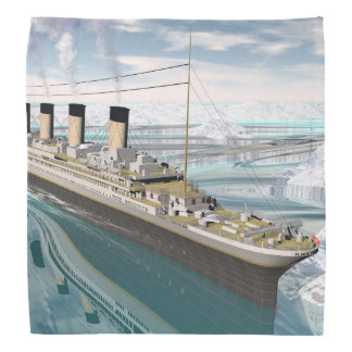 Lenço Navio titânico - 3D rendem
