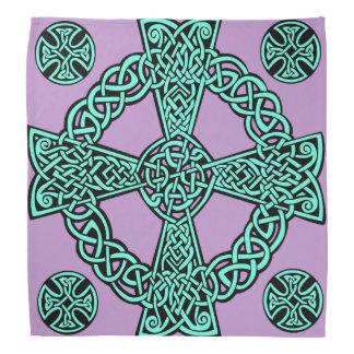 Lenço Nó da lavanda de turquesa da cruz celta