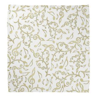 Lenço Notas da música do ouro no branco ou na alguma cor