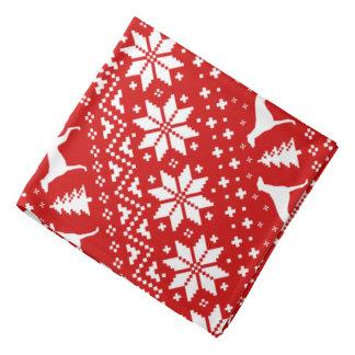 Lenço O galgo mostra em silhueta o teste padrão do Natal