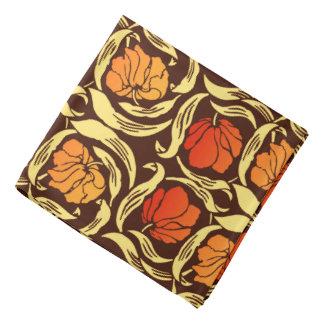 Lenço O Pimpernel de William Morris, oxida laranja e