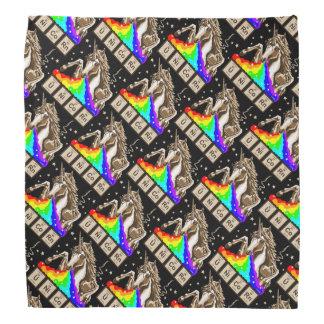 Lenço O unicórnio da química pukes o arco-íris