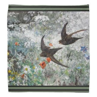 Lenço O Wildflower dos animais selvagens dos pássaros da