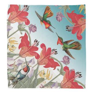 Lenço Os animais selvagens dos pássaros do colibri