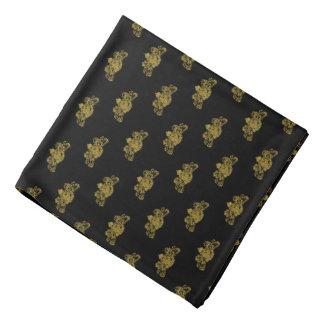 Lenço Ouro no bolso preto da lapela do emblema do leão