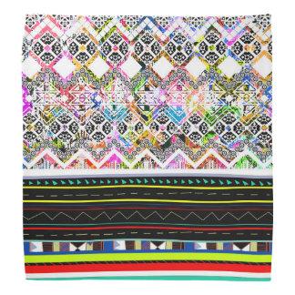 Lenço Padrões tribais astecas coloridos bonitos