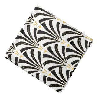 Lenço Palmettos pretos & brancos do art deco do 1920