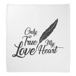 Lenço Pena verdadeira do amor da ilustração