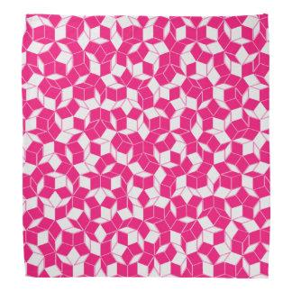 Lenço Penrose cor-de-rosa e branco telhou Bandanan