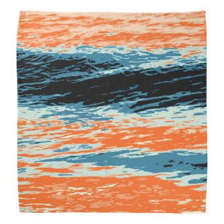 Lenço Por do sol/oceano/onda/mar