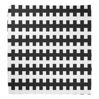 Lenço Preto e branco abstrato