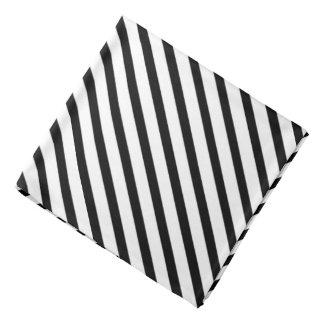 Lenço Quadrado formal do bolso da lapela da listra preta