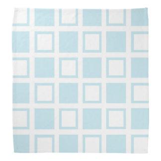 Lenço Quadrados azuis e brancos Pastel