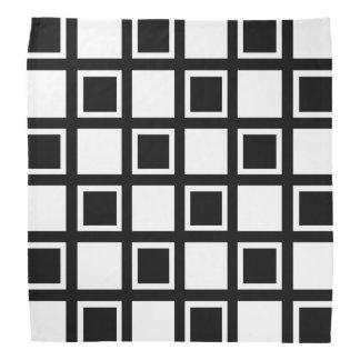 Lenço Quadrados brancos e pretos