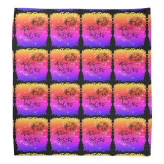Lenço Quadrados coloridos arco-íris da estrela do mar