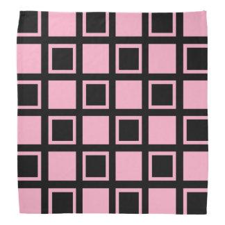 Lenço Quadrados cor-de-rosa e pretos