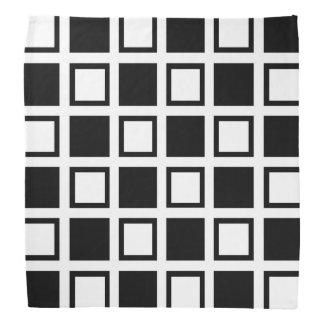 Lenço Quadrados preto e branco