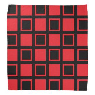 Lenço Quadrados vermelhos e pretos