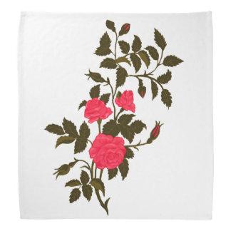 Lenço Rosas cor-de-rosa