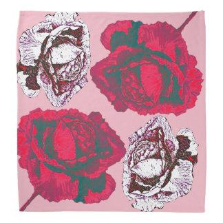 Lenço Rosas vermelhos e cor-de-rosa