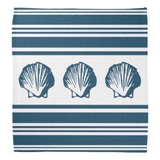 Lenço Seashells e listras