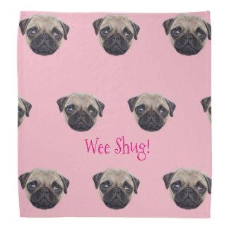 Lenço Shug personalizado o Pug escocês