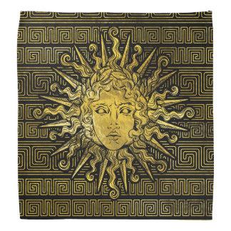 Lenço Símbolo de Apollo Sun no teste padrão chave grego