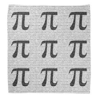 Lenço Símbolo matemático do dia preto original do pi do