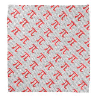 Lenço Símbolo matemático do dia vermelho original do pi