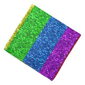 Lenço Sparkles vibrantes da bandeira de LGBT