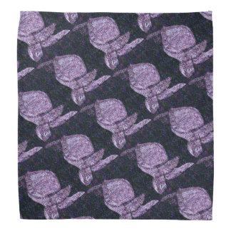 Lenço Tartarugas de mar roxas modeladas