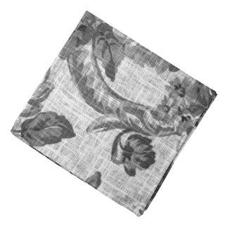Lenço Tecido floral No.4 de Toile do vintage preto &