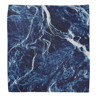 Lenço Teste padrão abstrato do azul